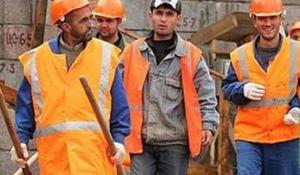 Мигрант на работе